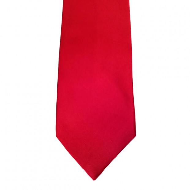 Red Silk Solid Wide Tie