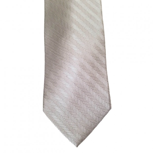 Silver Silk Solid Wide Tie