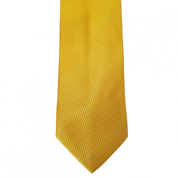 Yellow Silk Solid Wide Tie