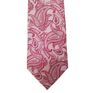 Pink  Paisley/Floral Wide Tie | Passion Paisley