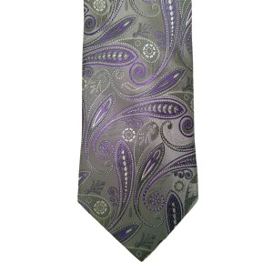 Purple  Paisley/Floral Wide Tie | Passion Paisley