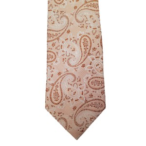 Orange  Paisley/Floral Wide Tie | Passion Paisley