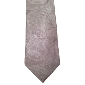 Silver  Paisley/Floral Wide Tie | Streeterville Silver