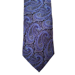 Blue  Paisley/Floral Wide Tie | Uptown Paisley