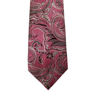 Pink  Paisley/Floral Wide Tie | Bucktown Paisley