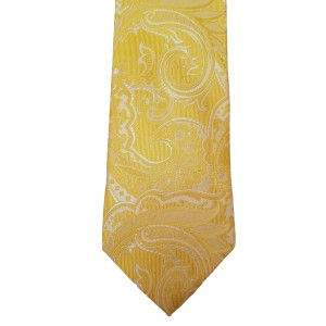 Yellow  Paisley/Floral Wide Tie | Bucktown Paisley