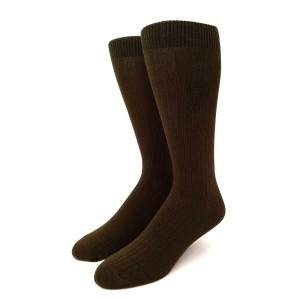 Green Cotton  Long Socks   Solid Army Green