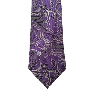 Purple  Paisley/Floral Wide Tie | Lakeview Paisley