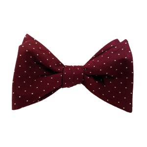 Red Silk Polka Dot/Geo Bow Tie | Feldot Dot