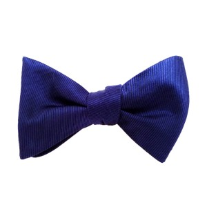 Blue Silk Solid Bow Tie | Midnight Blue