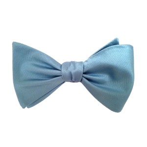 Blue Silk Solid Bow Tie | Splash Teal