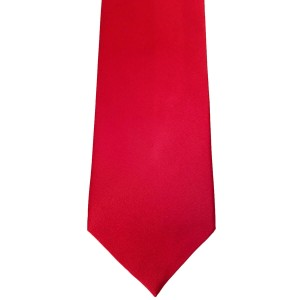 Red Silk Solid Wide Tie | Red Solid