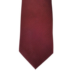Red Silk Solid Wide Tie | Burgundy Solid