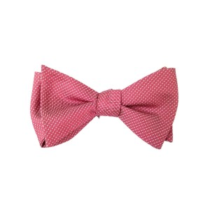 Pink Silk Solid Bow Tie | Wine Solid