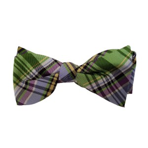 Green Silk Plaid Bow Tie | Greenbriar Plaid