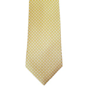 Yellow Silk Solid Wide Tie | Sunrise Yellow