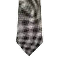 Black Silk Solid Wide Tie | Screened Solid
