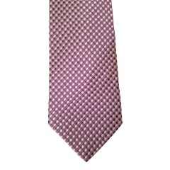 Purple Silk Polka Dot/Geo Wide Tie | Plum Dot