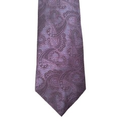 Purple  Paisley/Floral Wide Tie | Uptown Paisley