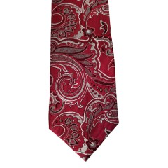 Red  Paisley/Floral Wide Tie | Lakeview Paisley