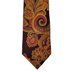 Brown  Paisley/Floral Wide Tie | Lakeview Paisley