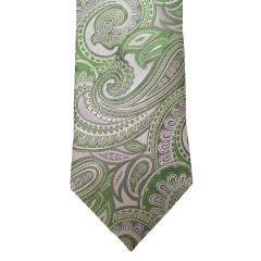 Green  Paisley/Floral Wide Tie | Hanover Paisley