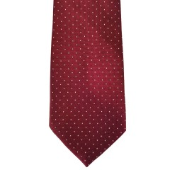 "Red Silk Polka Dot/Geo Wide Tie | Feldot Dot 3.5"" W"