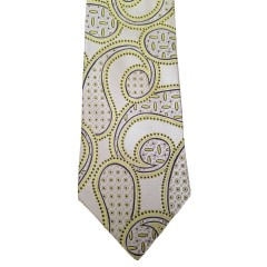 Green  Paisley/Floral Wide Tie   Friar Paisley