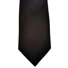 Black Silk Solid Wide Tie | Black Solid
