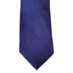 Blue Silk Solid Wide Tie | Midnight Blue
