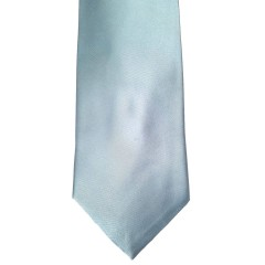 Blue Silk Solid Wide Tie | Splash Teal