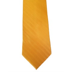 Orange Silk Solid Wide Tie | Herringbone Orange