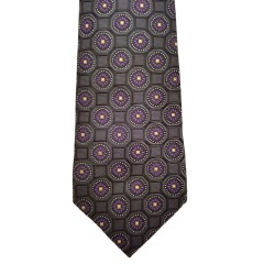 Black Silk Polka Dot/Geo Wide Tie | Clybourn Dot