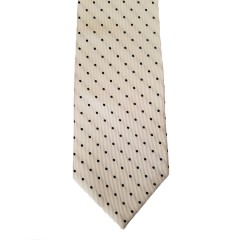 "White Silk Polka Dot/Geo Wide Tie | White Bliss 3.5"" W"
