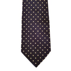 "Blue Silk Polka Dot/Geo Wide Tie | Blue Bliss 3.5""W"