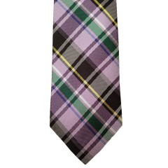Pink Silk Plaid Wide Tie | Sheridan Plaid
