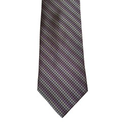 Black Silk Stripes Wide Tie | Ashland Stripe