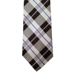 Black Silk Plaid Wide Tie | Wit Plaid