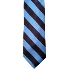 Blue Silk Stripes Wide Tie | Waldorf Stripe
