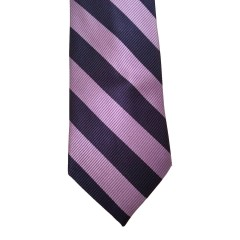 Purple Silk Stripes Wide Tie | Waldorf Stripe