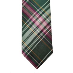 Green Silk Plaid Wide Tie | Ryan Plaid