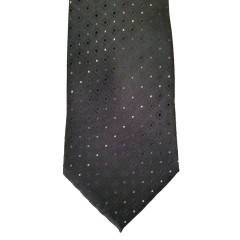 Black Silk Polka Dot/Geo Wide Tie | Ogden Dot