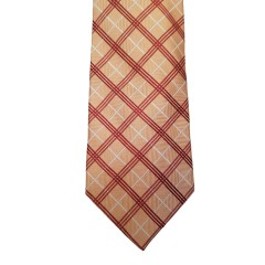 Orange Silk Stripes Wide Tie | Diamond Stripe