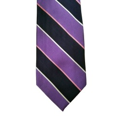 Purple Silk Stripes Wide Tie | Fullerton Stripe