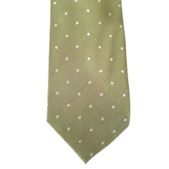 Green Silk Polka Dot/Geo Wide Tie | Misty Green