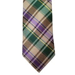 Green Silk Plaid Wide Tie | Salon Plaid