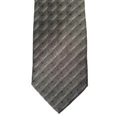 Black Silk Stripes Wide Tie | Willis Stripe