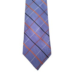 Blue Silk Stripes Wide Tie | Halsted Stripe