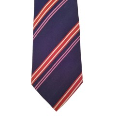Blue Silk Stripes Wide Tie | Bears Stripe