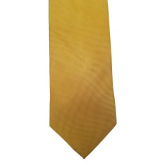 Yellow Silk Solid Wide Tie | Burnt Yellow